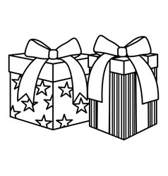 party gifts boxes presents vector image
