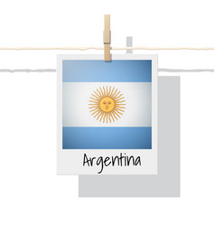 photo of argentina flag vector image