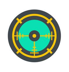 Police aim radar icon flat style vector