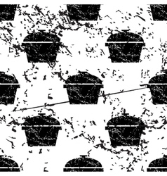 Pot pattern grunge monochrome vector