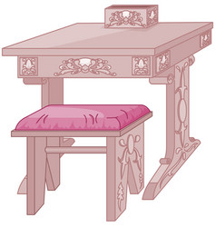 princess student desk and chair vector image