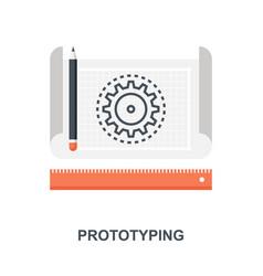 Prototyping icon concept vector