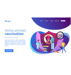 rabies and your pet concept landing page vector image