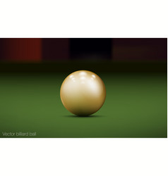 realistic billiard ball vector image
