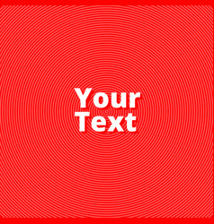 red background of lines and waves vector image