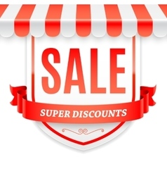 Sale Banner with Store Awning vector image