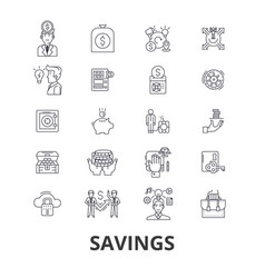 savings save money piggy bank money sale vector image