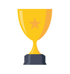 simple trophy award vector image