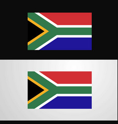 south africa flag banner design vector image