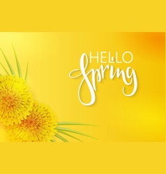 Spring banner template with vector