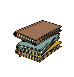 stack books library and reading vector image