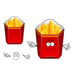 Takeaway cardboard cartons of French fries vector