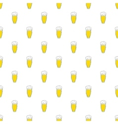Tall glass of beer pattern cartoon style vector