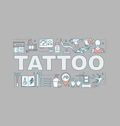 Tattoo studio word concepts banner vector