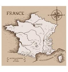 Vintage map france vector