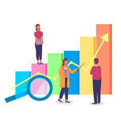 way to business success effective management vector image