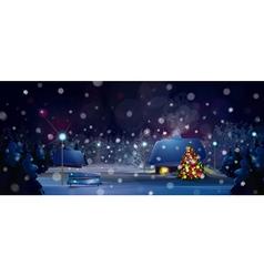 winter christmas tree vector image
