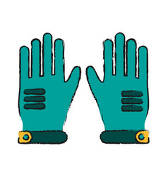 winter gloves accesory vector image
