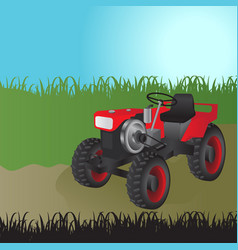 agricultural tractor transport for farm vector image vector image