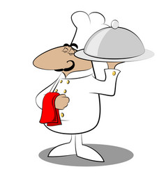 funny chef cook vector image