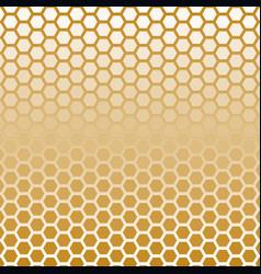 Hexagon halftone gold color vector