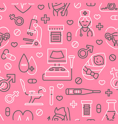 medical seamless pattern gynecology vector image vector image