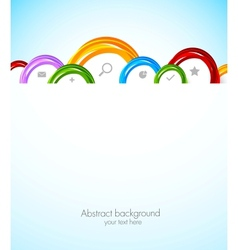 Colorful web template vector image vector image