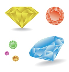 Diamond set vector image vector image