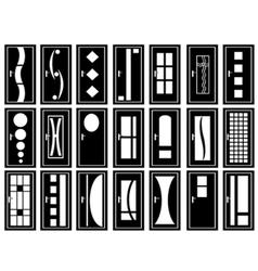 of doors vector image vector image