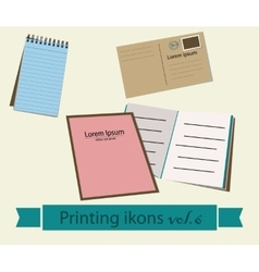 Print icons set6 vector image
