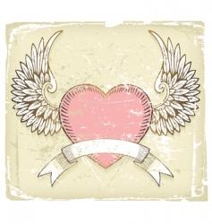 retro love design vector image