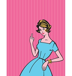 Rude Housewife vector image