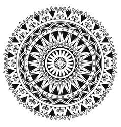 Ancient gothic ornament mandala on white vector