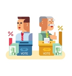 Elections candidates characters vector image vector image