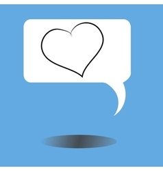 message icon with heart and shadow vector image