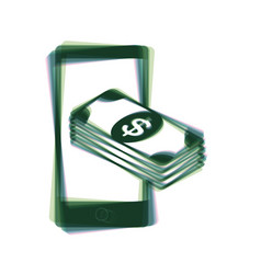 payment refill your mobile smart phone vector image