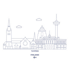 Tampere city skyline vector