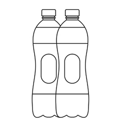 Two bottles of water icon outline style vector image vector image