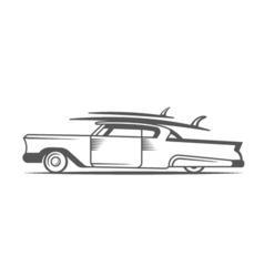 Vintage Surf Car vector image vector image
