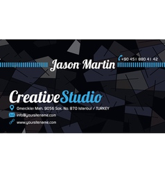 Abstract business card blue vector image vector image