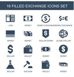 16 exchange icons vector image