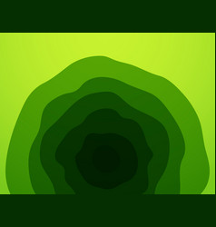 abstract green waves pattern vector image