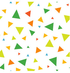 abstract seamless pattern of triangles vector image
