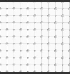 abstract simple pattern with circles monochrome vector image