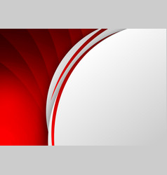 Abstract template red background curve line on vector