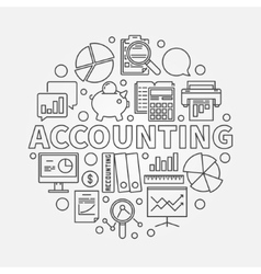 Accounting round linear vector