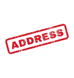 Address Text Rubber Stamp vector