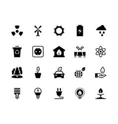 alternative energy black icons renewable eco vector image