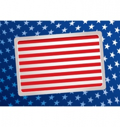 American inspired background vector image
