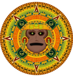 ancient god aztec vector image